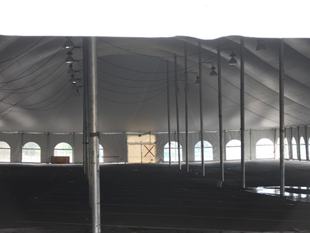 100 ft x 250 ft Rental Pole tent - Inside View