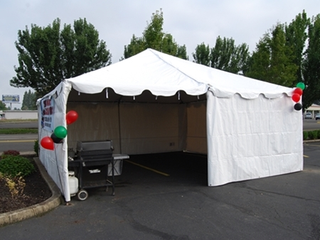 20 X 20 Party Tent Rentals Set Up