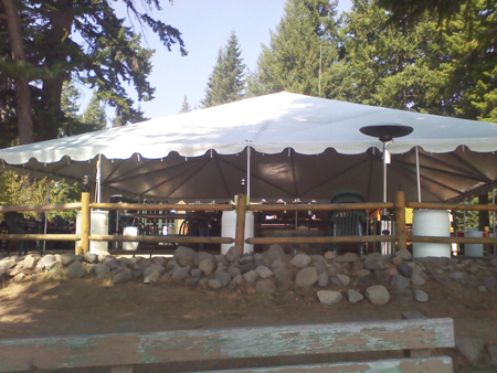 Cresent Lake Resort Rental Temp Tent