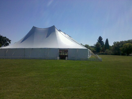 60 Ft Wide Twin Center Pole Rental tent